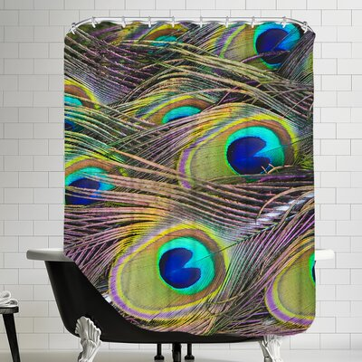 Bird Pattern Feather Shower Curtain