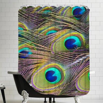 Peacock Bird Pattern Feather Shower Curtain
