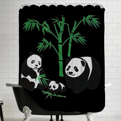 Family With Bamboo Shower Curtain