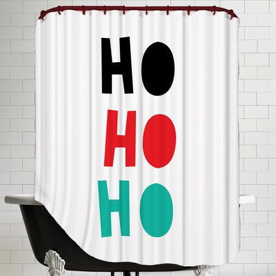Ho Ho Ho Christmas Print Shower Curtain