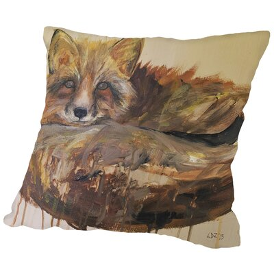 Drip Fox Throw Pillow Size: 18 H x 18 W x 2 D