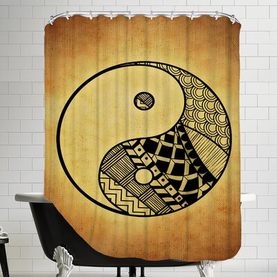 Yin And Yang Symbol Yoga Shower Curtain