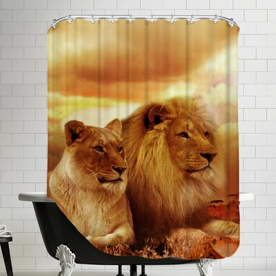 Lion Cat Savanna Shower Curtain