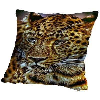Gepard Leopard Cat Wildlife Throw Pillow Size: 16 H x 16 W x 2 D