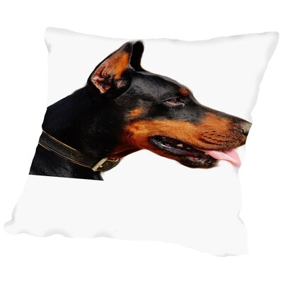Doberman Dog Pet Friend Throw Pillow Size: 18 H x 18 W x 2 D