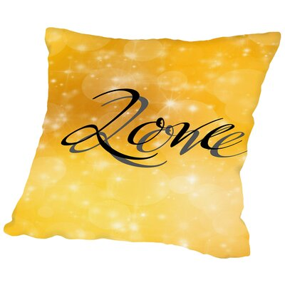 Design Of Love Valentine Throw Pillow Size: 18 H x 18 W x 2 D