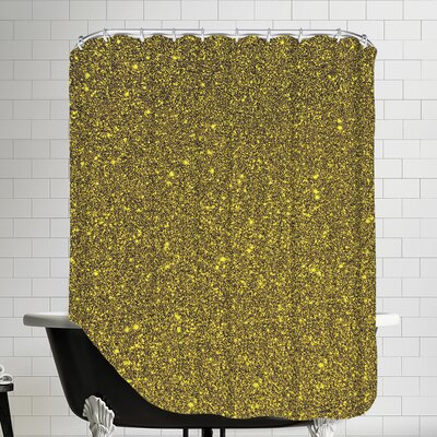 Luxury Shiny Polyester Shower Curtain