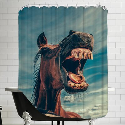 Funny Lucky Horse Animal Shower Curtain
