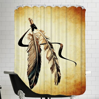 Feather Bird Paint Shower Curtain