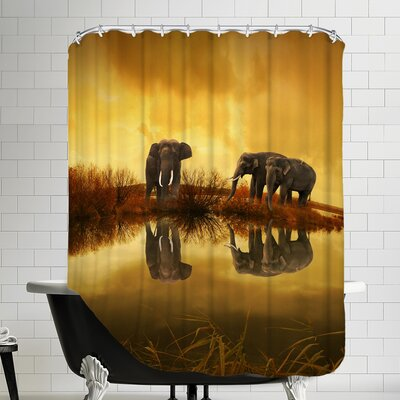 Elephant Nature Summer Shower Curtain