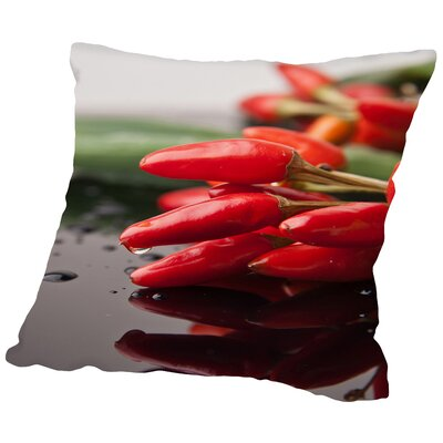 Chili Food Kitchen Throw Pillow Size: 18 H x 18 W x 2 D
