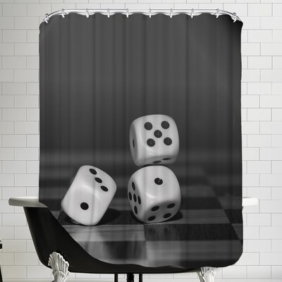 Cube Dice Hobby Game Shower Curtain
