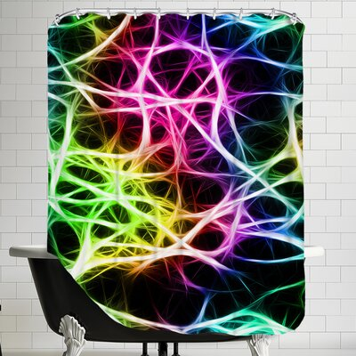 Colorful Neurons Nerve Healthy Modern Shower Curtain