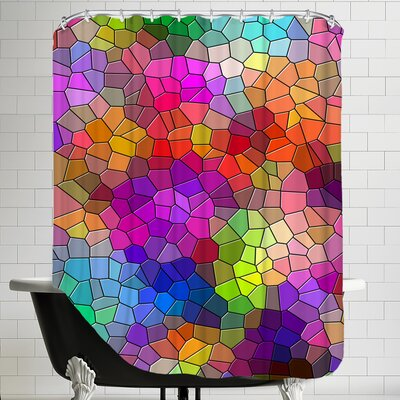 Colorful Abstract Mosaic Style Shower Curtain