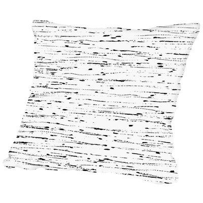 Textured Petals Stripes Throw Pillow Size: 18 H x 18 W x 2 D