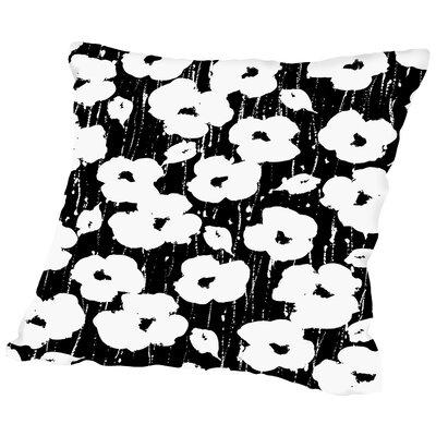 Textured Petals Floral Throw Pillow Size: 16 H x 16 W x 2 D