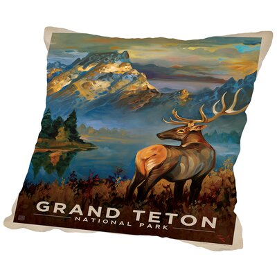 Grandteton Throw Pillow Size: 18 H x 18 W x 2 D