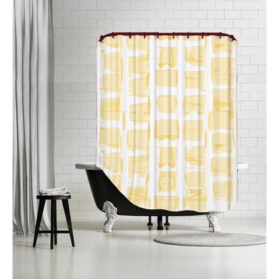 Edgy Daisy Check Shower Curtain Color: Yellow