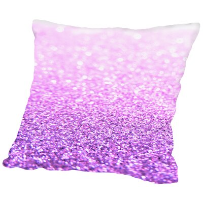 Shiny Cotton Throw Pillow Color: Pink, Size: 16 H x 16 W x 2 D