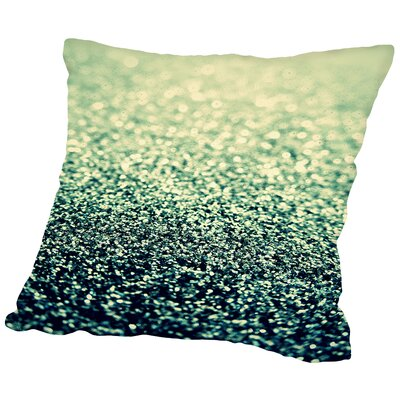 Shiny 100% Cotton Throw Pillow Size: 18 H x 18 W x 2 D, Color: Green