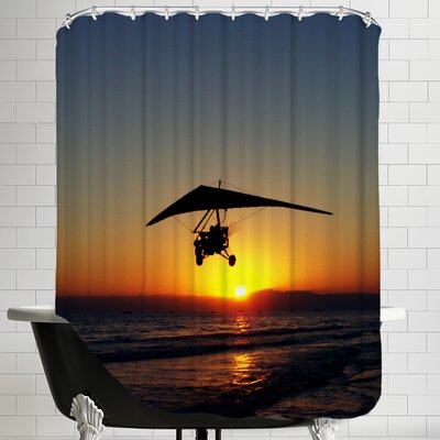Sunset with Flying Style Shower Curtain