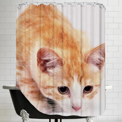 Cute Cat Pet Friend Shower Curtain