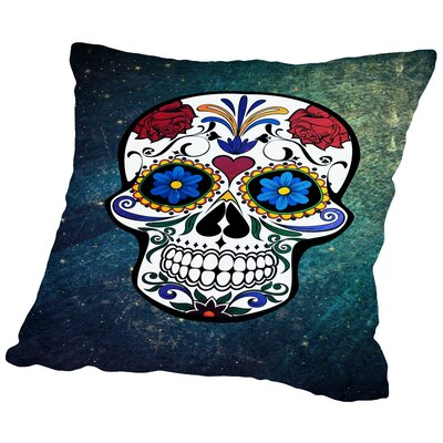 Trendy and Stylish Skull Horror Throw Pillow Size: 14 H x 14 W x 2 D