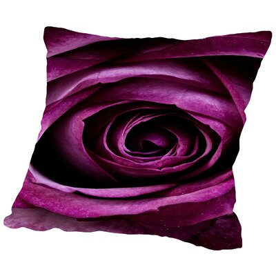 Rose of Love Valentine Throw Pillow Size: 16 H x 16 W x 2 D