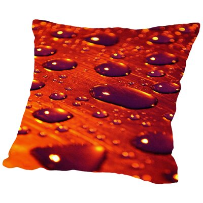 Water Drops Throw Pillow Size: 18 H x 18 W x 2 D