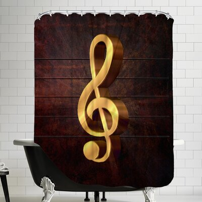 Music Clef Shower Curtain