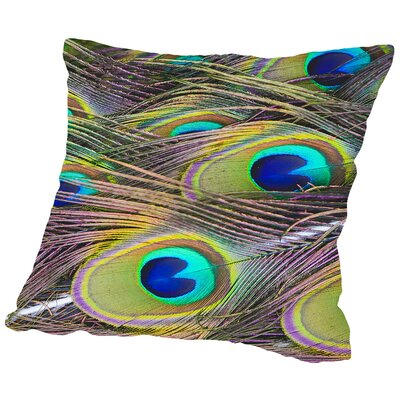 Bird Pattern Feather Throw Pillow Size: 16 H x 16 W x 2 D