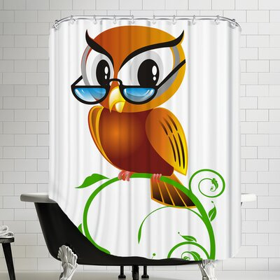 Owl Bird Graphic Shower Curtain