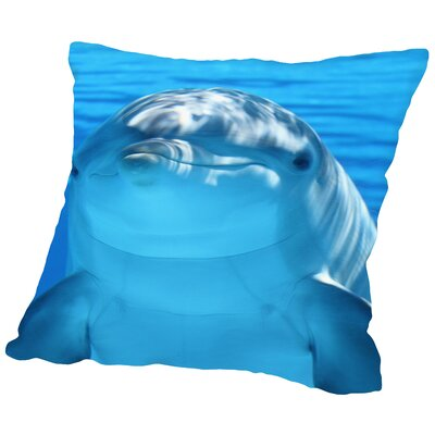 Dolphin Sealife Cotton Throw Pillow Size: 14 H x 14 W x 2 D