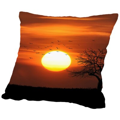 Wonderful Holiday Sunset Throw Pillow Size: 16 H x 16 W x 2 D