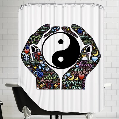 Yin And Yang Symbol Hands Shower Curtain