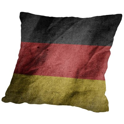 Germany Flag Throw Pillow Size: 18 H x 18 W x 2 D