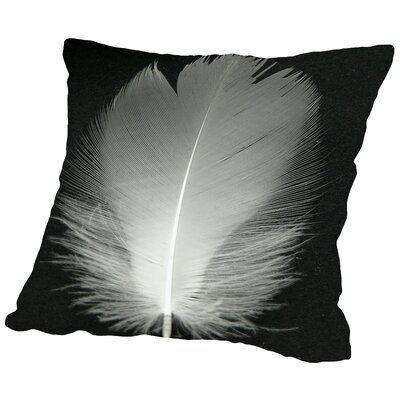 Feather Bird Throw Pillow Size: 14 H x 14 W x 2 D