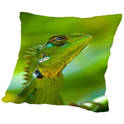 Exotic Tropical Reptile Animal Throw Pillow Size: 14