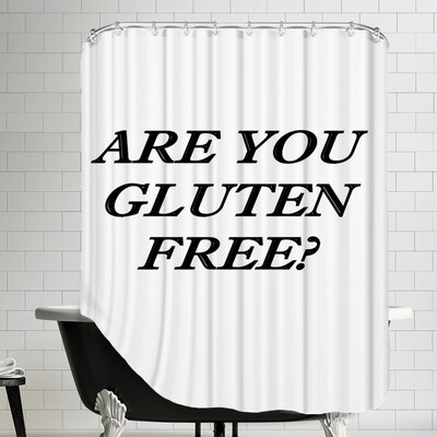 Gluten Free Healthy Food Shower Curtain