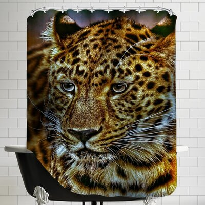 Gepard Leopard Cat Wildlife Shower Curtain