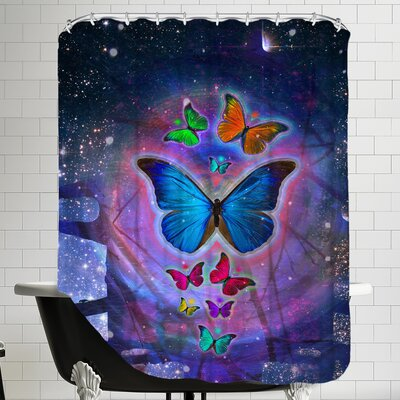 Fantasy Butterfly Insect Shower Curtain