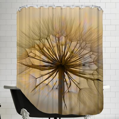 Dandelion Flower Polyester Nature Shower Curtain