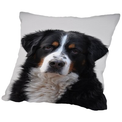 Cute Dog Pet Animal Throw Pillow Size: 18 H x 18 W x 2 D