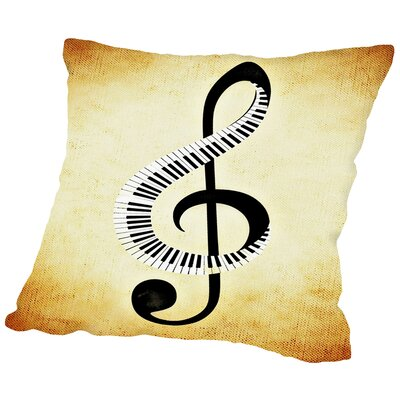Clef Music Musically Throw Pillow Size: 16