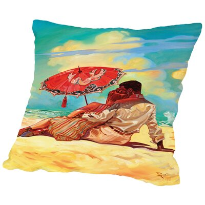 Summer Love Throw Pillow Size: 18 H x 18 W x 2 D