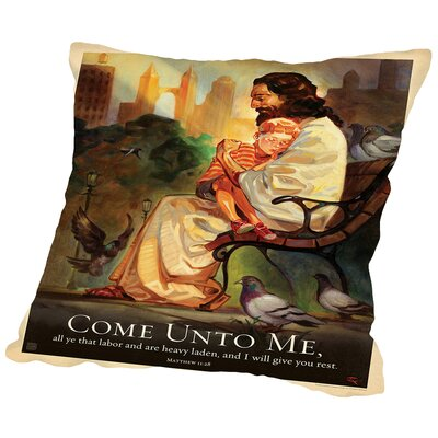 Jesus Come Unto Me Throw Pillow Size: 14 H x 14 W x 2 D