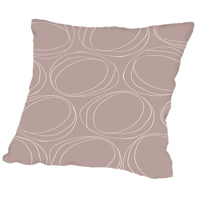 Poppy Petals Large Circles Throw Pillow Size: 18 H x 18 W x 2 D, Color: Sandstone