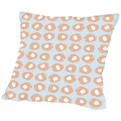 Gnarly Stumps Dots Salmon Throw Pillow Size: 20 H x 20 W x 2 D