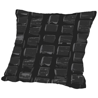 Check Throw Pillow Size: 18 H x 18 W x 2 D, Color: Black