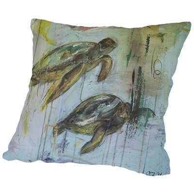Two Turtles Throw Pillow Size: 16 H x 16 W x 2 D